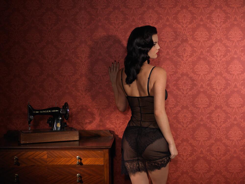 Lola Babydoll Mesh (back) via Ava Corsetry