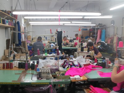 The factory where Lola Haze's collections are manufactured