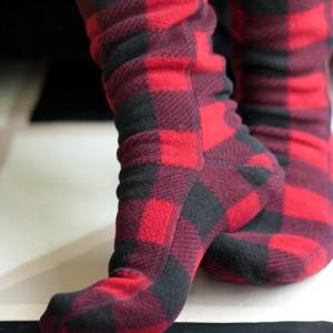 Lingerie of the Week: Lumberjack Fleece Knee Highs