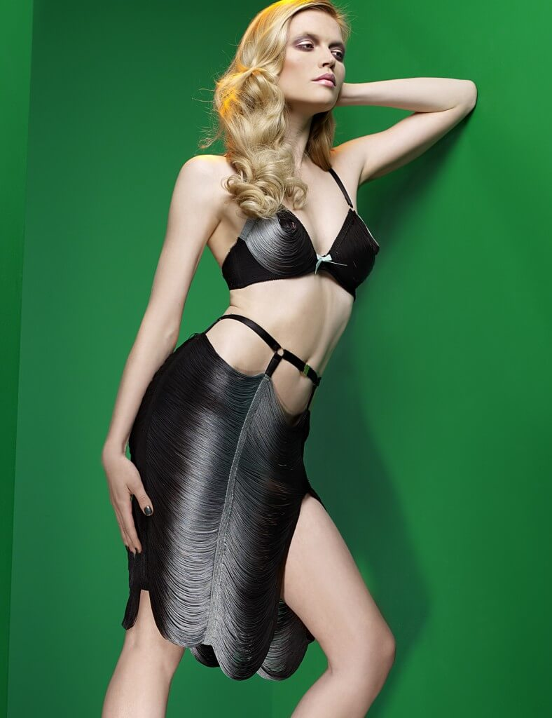 Made by Niki String Bra + Skirt and Black & Grey