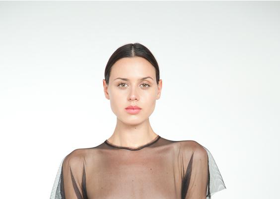 marika vera signature tulle bodysuit crop