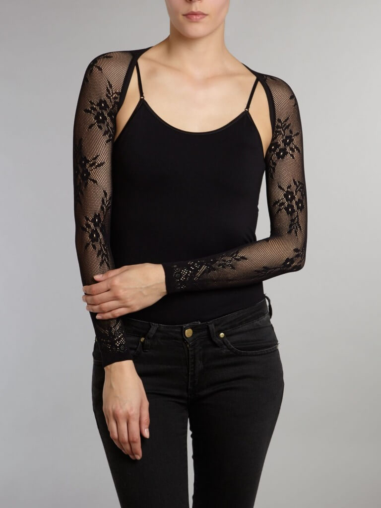 Mary Portas Black Floral Lace Armery