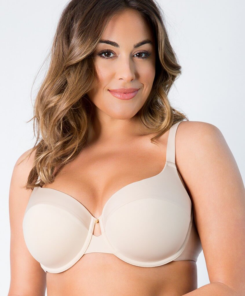 Matte and Shine T-shirt Bra by Curvy Couture  34C to 44H (US sizing)