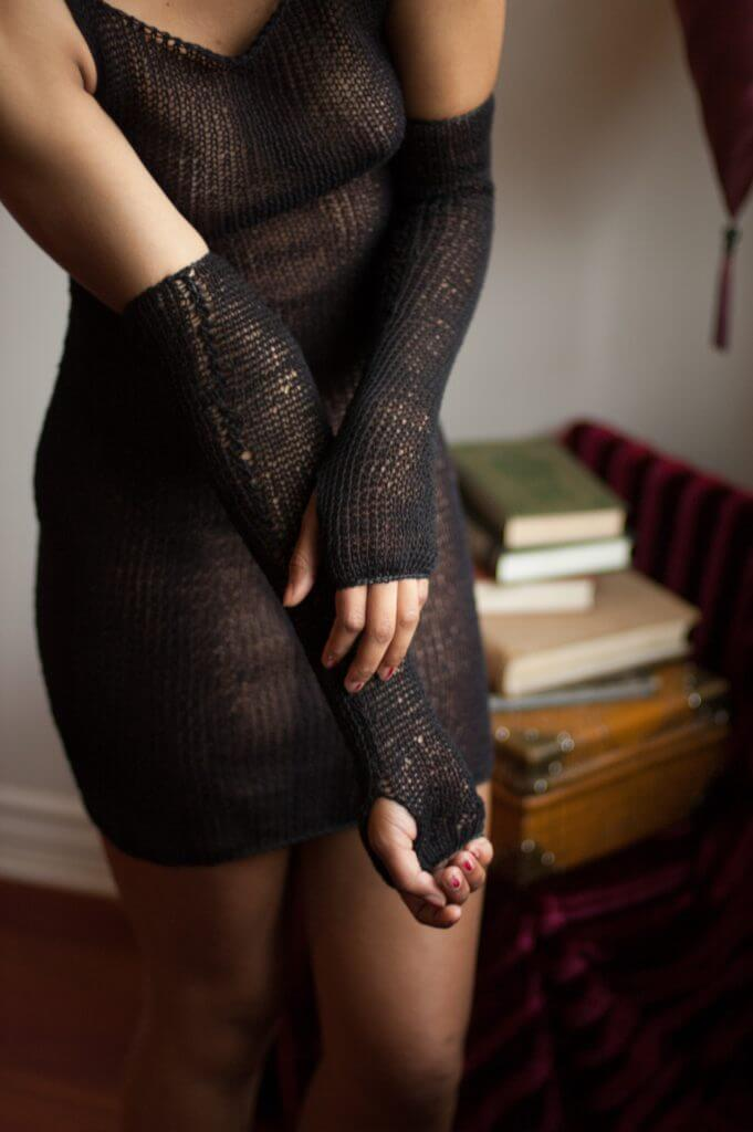 Maude Nibelungen Long Fingerless Gloves - $63.00