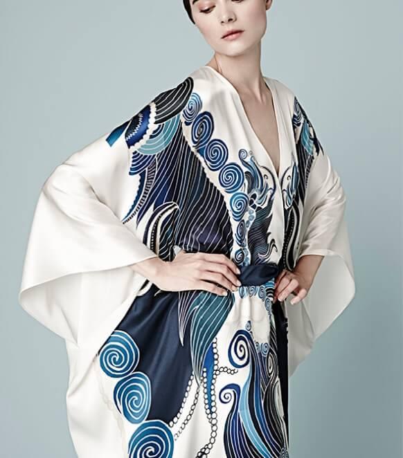 Meng silk robe