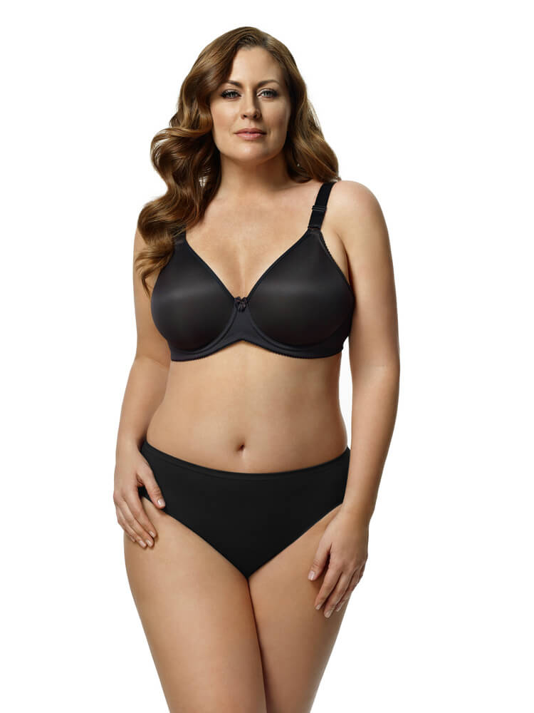 Microfiber Moulded Underwire Bra by Elila  34E/DD to 46J (US sizing)