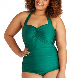 Sale Lingerie of the Week: Esther Williams Bathing Beauty One Piece Swimsuit in Emerald – Plus Size