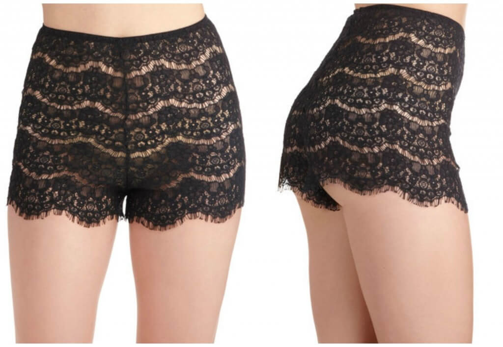 b9675d7ad359e Lingerie of the Week  Modcloth  Daybed at Dawn  Eyelash Lace Sleep Shorts