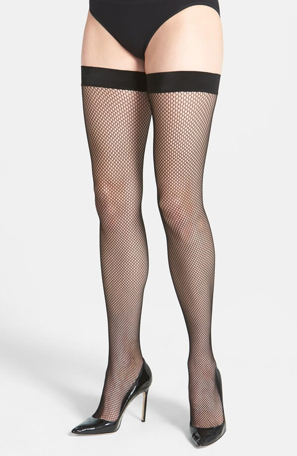 e5c3c1b5f5f5f Sale Lingerie of the Week: DKNY Fishnet Thigh High Stockings