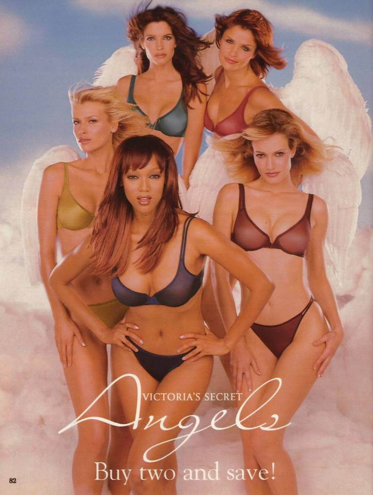 Tyra Banks, Helena Christensen, Stephanie Seymour, Frederique van der Wal - VS Angels