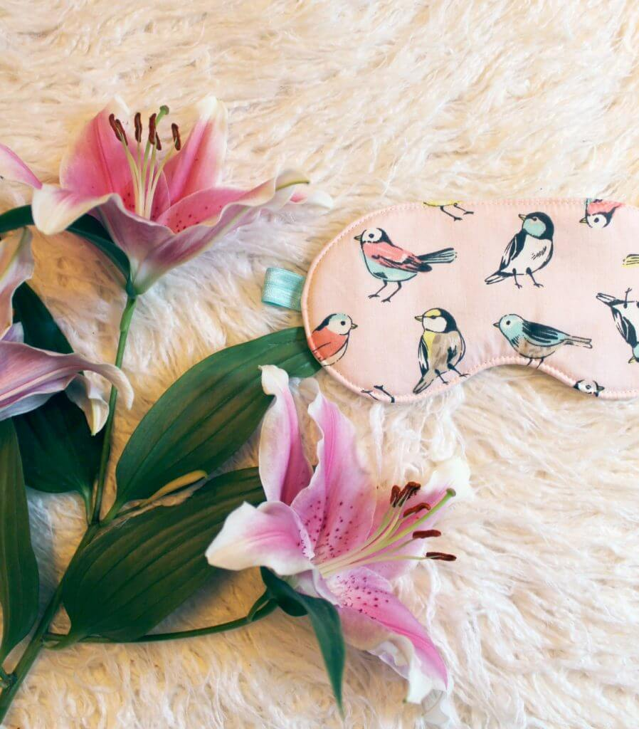 Ohhh Lulu Pastel Pink Songbird Sleep Mask - Valentine's Day Lingerie