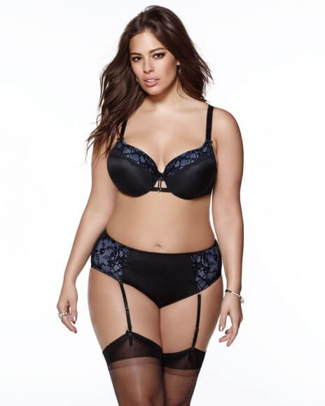 Padded Lace Trim Bra (Ashley Graham Collection) by Addition Elle