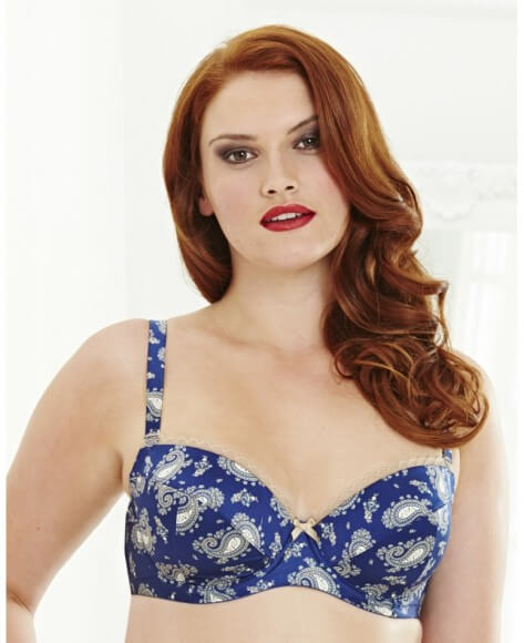 Paisley Print Bra by Simply Be  34C to 46I (US sizing)