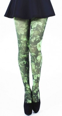 Twilight Printed Tights - Flo Green via Pamela Mann