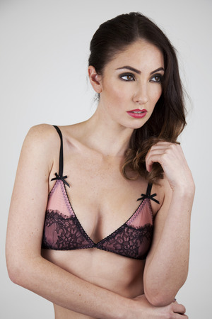 Playful Promises Sunset Pink Eyelash Lace Soft Cup Bra - £20.00 (approximately $32.44)