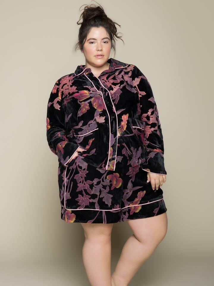 Premme Aurora PJ Set - Velvet Devoré Loungewear Trend