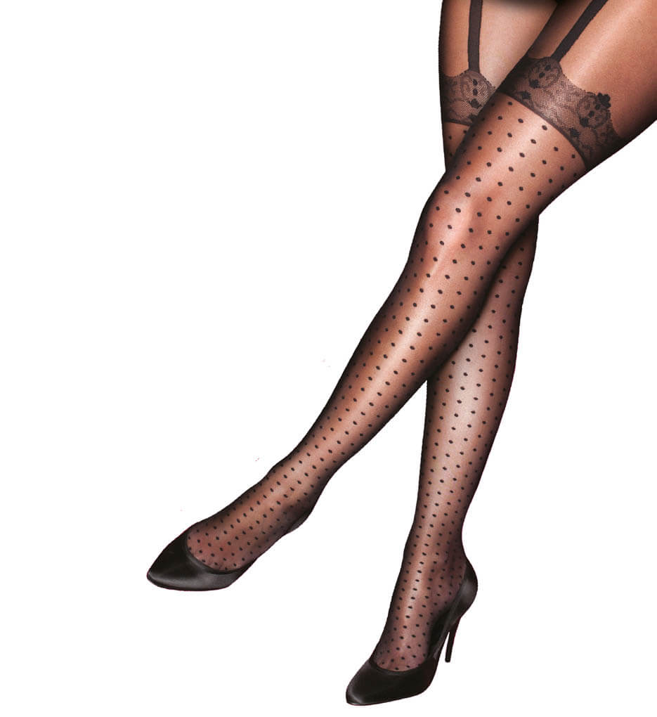 Pretty Polly Spotty Hold Up Tights in Plus Size - $25.00 (also available in Misses Size here)