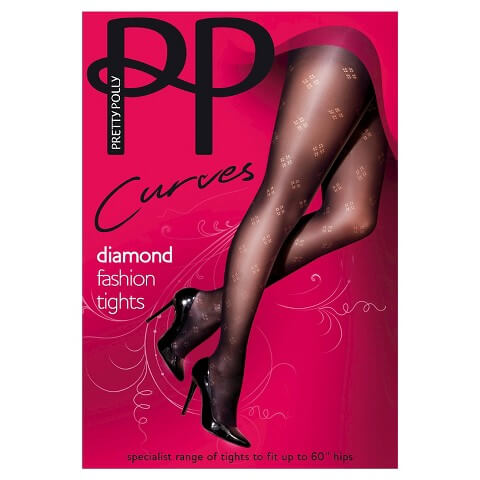 Pretty Polly Plus Size Diamond Tights