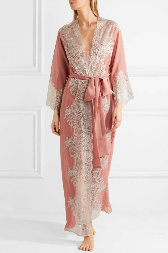 Rosamosario Sweet Sumatra Silk Georgette Robe