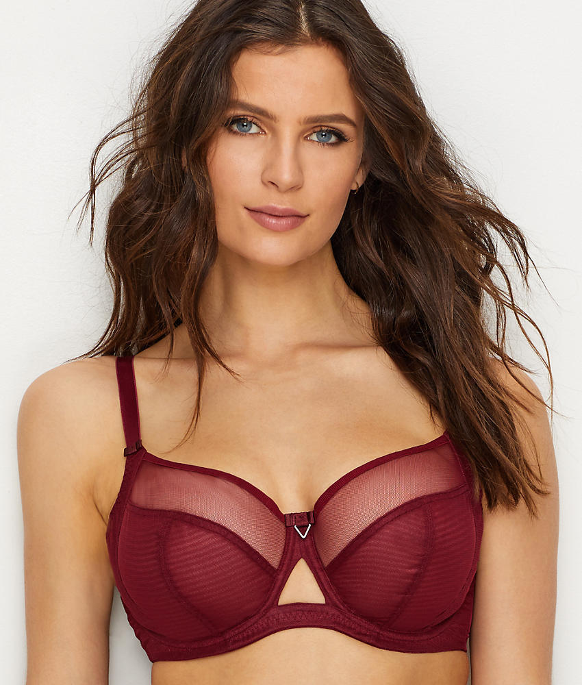 Curvy Kate Victory Balcony Bra in Wine
