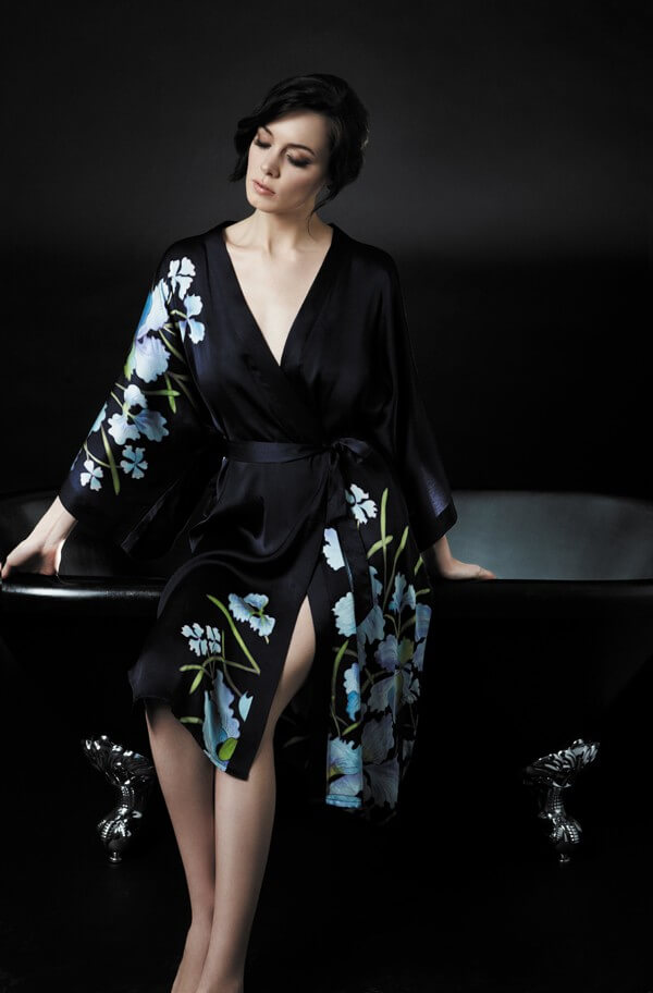 7e26589183 Samantha Chang handpainted silk robes are  250.00. One size fits all. Save