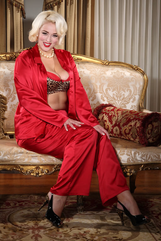 Secrets in Lace Tailored Pajama. Was $89.00. Now $62.30.