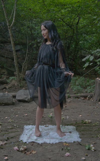 she and reverie's Spellbound Gown from the Rose Petal Witch photoshoot