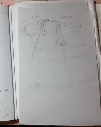 Sketchbook page for she and reverie's Spellbound Gown