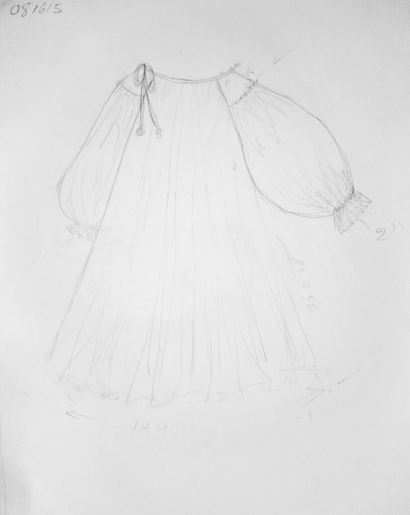 Pencil sketch of she and reverie's Spellbound Gown