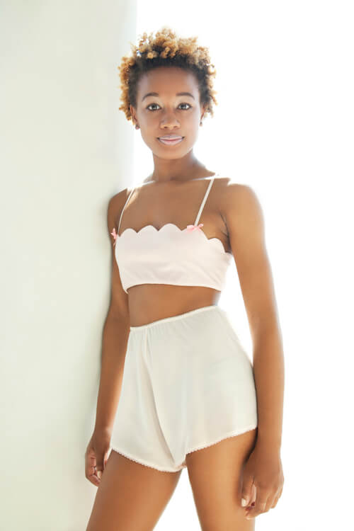 she and reverie Scallop Bralette