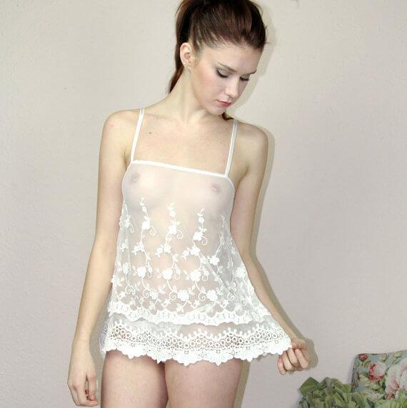 Sheer Lingerie Camisole by Sandmaiden Sleepwear