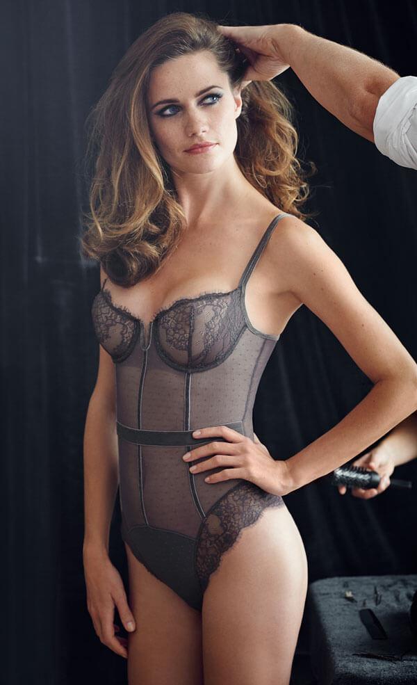 d71b72d3e8 Sale Lingerie of the Week  Simone Perele Velvet Bodysuit
