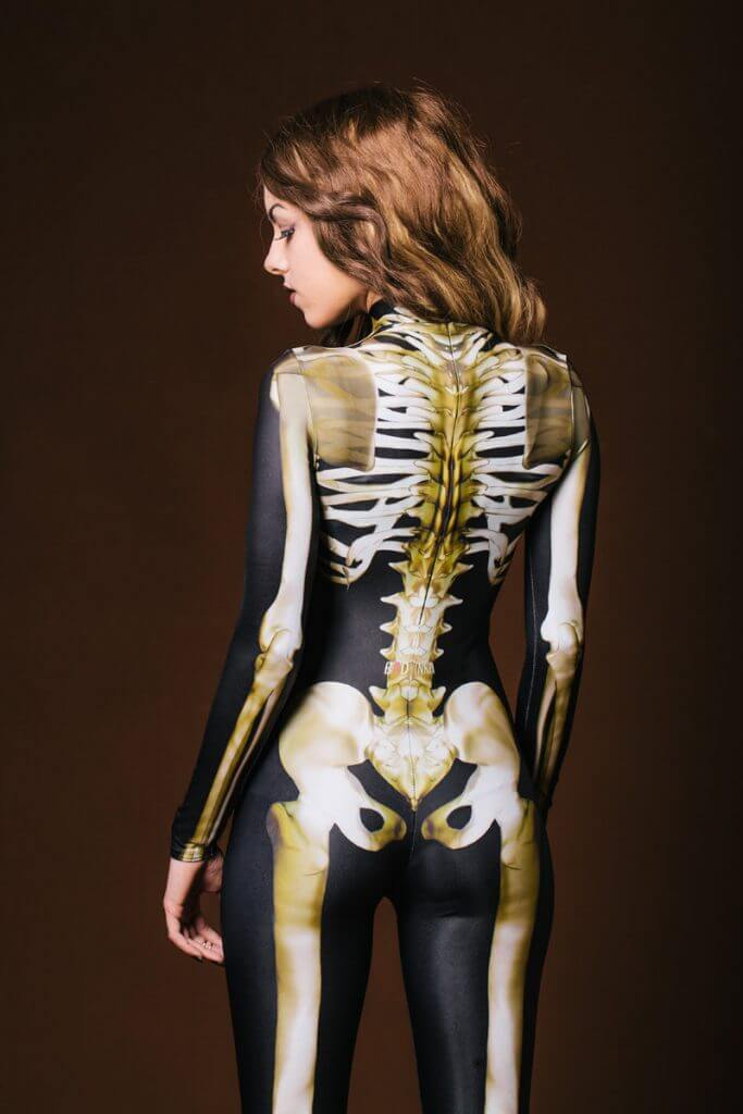 Full Body Skeleton Catsuit by Badinka. Halloween Lingerie.
