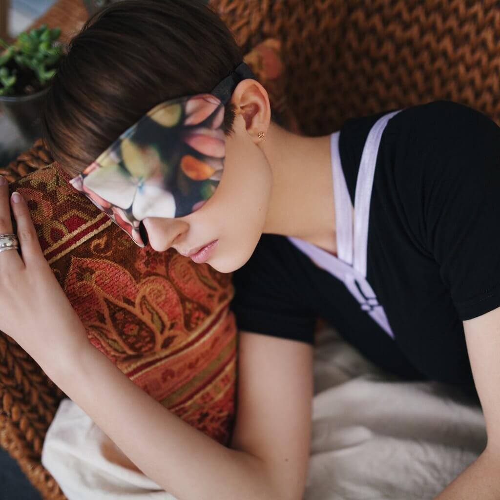 Sophie Hines Dyadic Geometric Sleepmask - Valentine's Day Lingerie