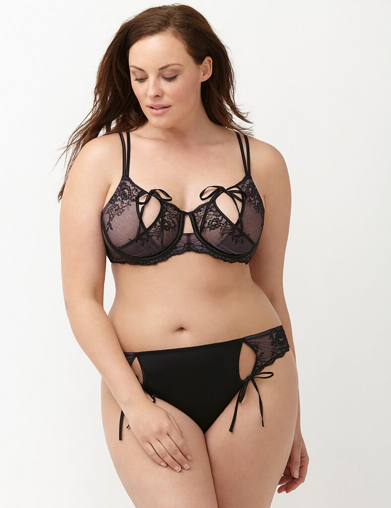 Strappy Keyhole Bra and Panty Set by Lane Bryant