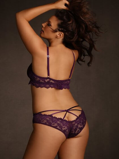 Strappy Stretch Lace Panties by Hips and Curves  1X through 6X
