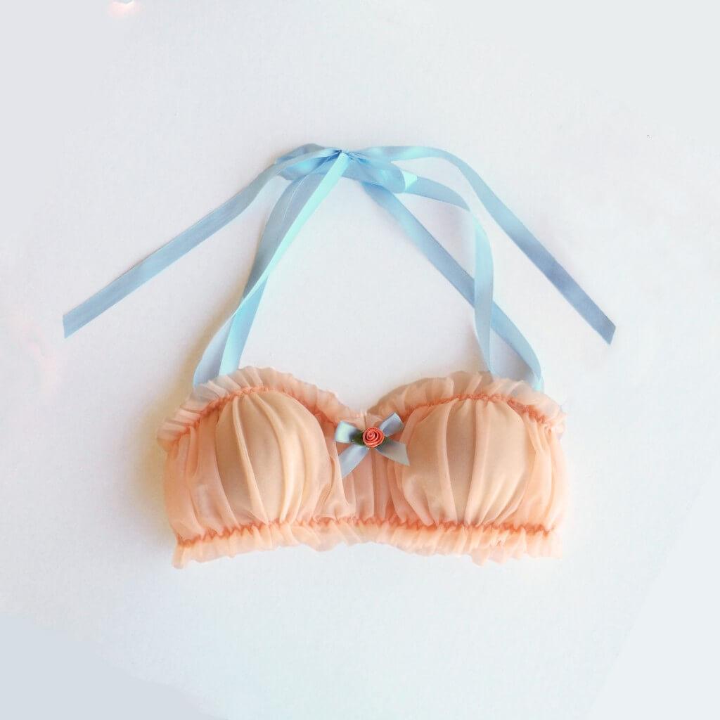 sugar lace lingerie peach dream bralette
