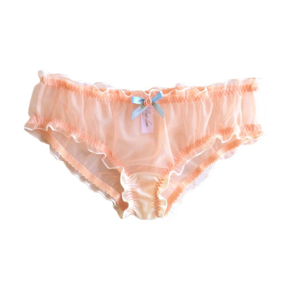 sugar lace lingerie pretty peach panties