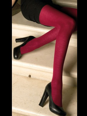 Trasparenze Jennifer Merino Wool Tights in Rubino