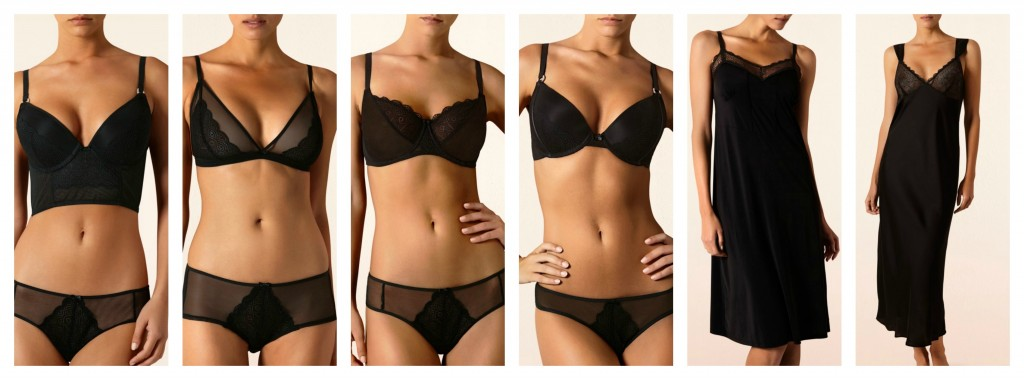 The Anemone Collection - This is my second favorite, and the one I like the most personally (as in, the range I'd be most likely to wear myself). But I love black lingerie, so that's to be expected. I especially like the knickers here, and I thought the bras were nice with the wireless triangle cup being a standout.
