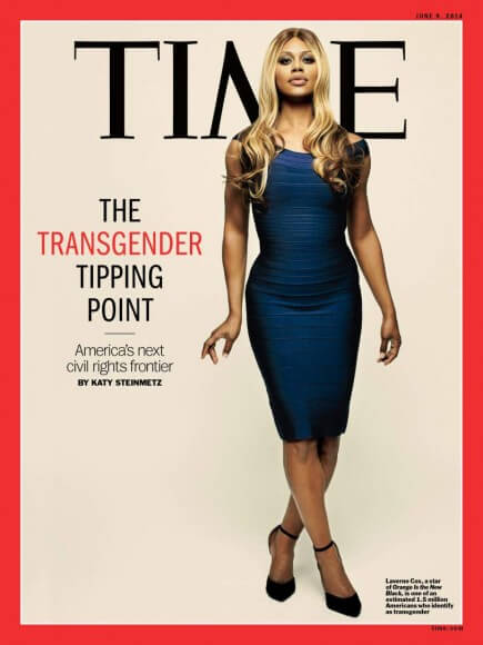 Laverne Cox's Time Magazine cover. Cox says that she doesn't want to just be known as a pretty woman. Via Time.