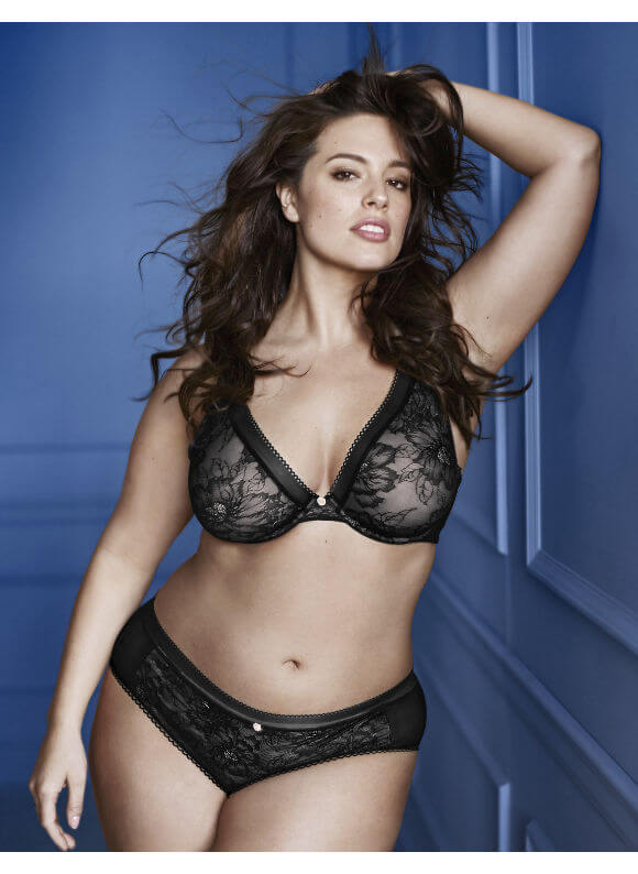 Ultra Sheer Plunge Bra by Lane Bryant  36C to 44H (US sizing)