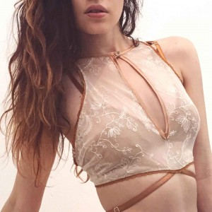Lingerie of the Week: Uye Surana Limited Edition Luna Cropped Cami & Strappy Panty in Honey