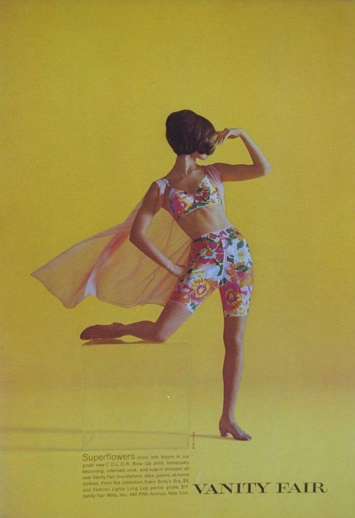 vanity fair flowers 1960s lingerie