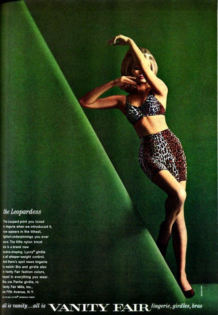 vanity fair vintage leopard print