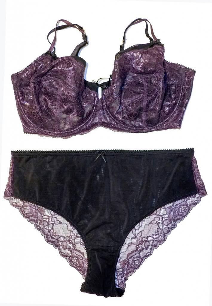 Addition Elle Unapadded Lace Bra and Panty Set