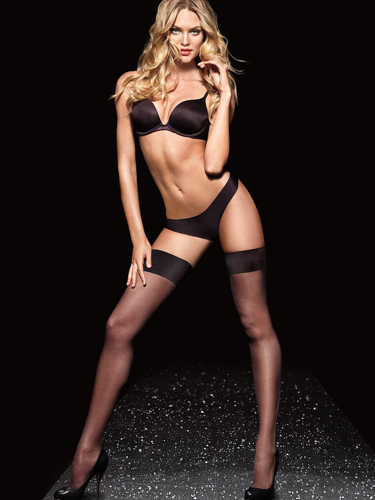Victoria's Secret Satin-Topped Thigh High Stockings