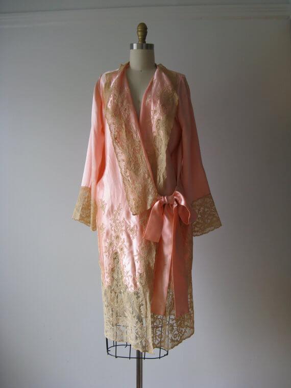 Vintage 1920s Silk Robe, via Etsy