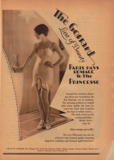 1926 Gossard ad, via flickr.