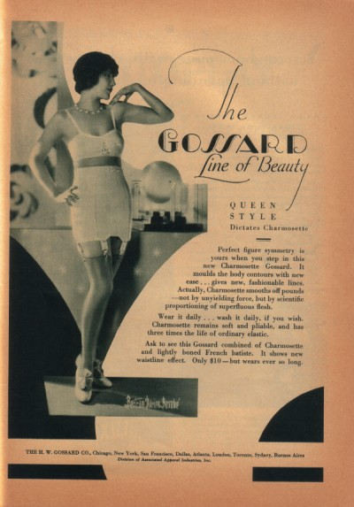 A late 1920s lingerie advertisement